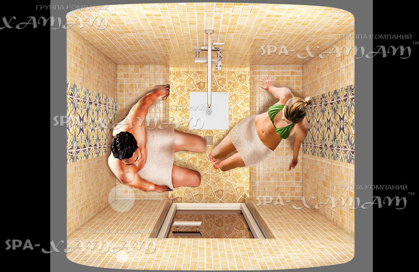 Хамам в ванной комнате на двух человек фото